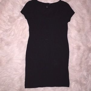 H&M black short dress
